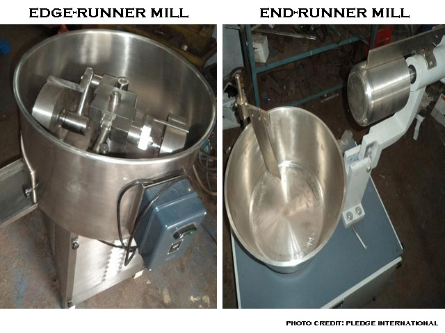 image of edge-runner mill and end-runner mill