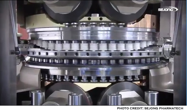Tablet press-image of a rotary tablet press