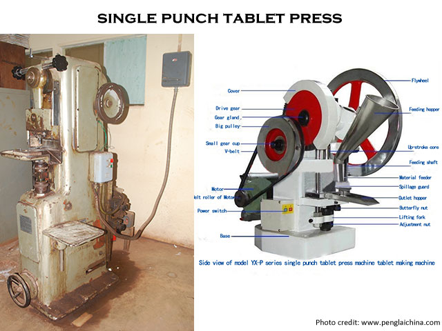 image of a single punch tablet press