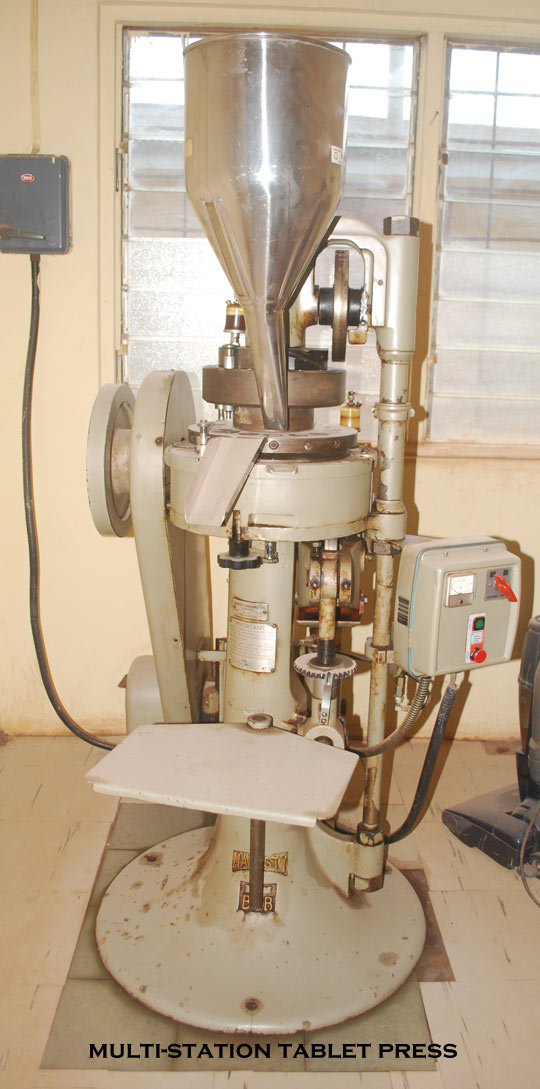 image of a rotary tablet press (Multi-station tablet press)