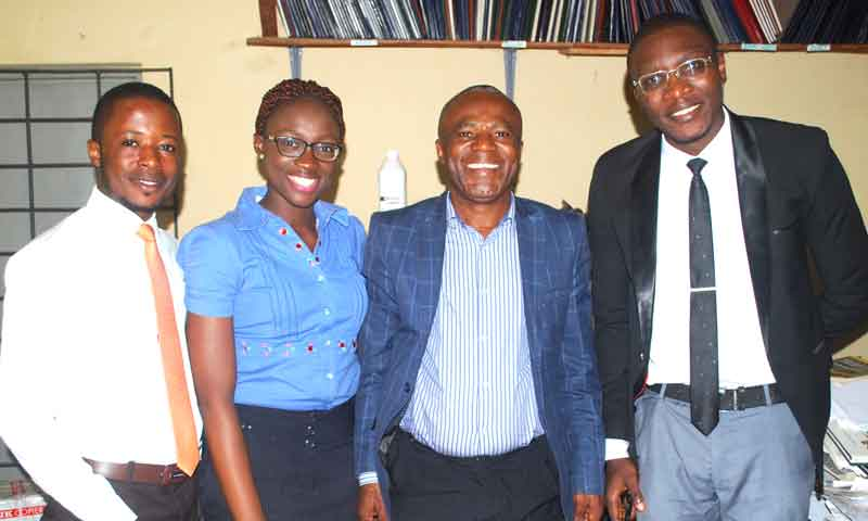 Nigerian drug industry: Picture of Pharmapproach crew with Professor Sabinus Ofoefule