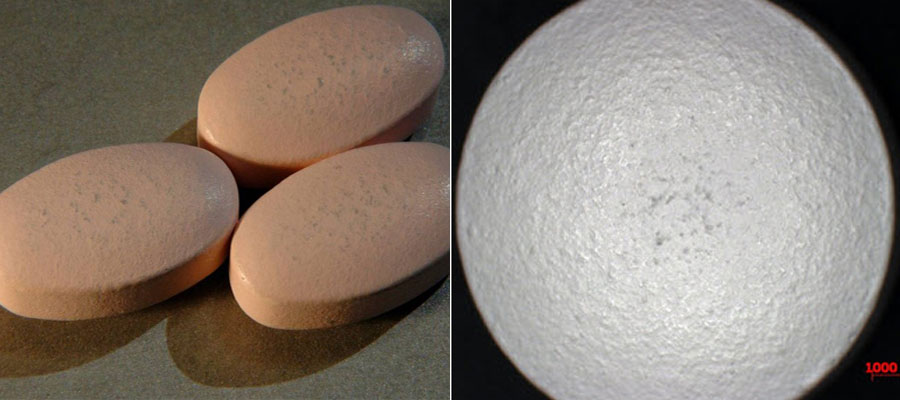 Defects in film coating: Scuffing of film coated tablets