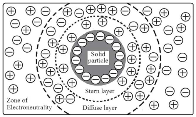 Theoretical Considerations for Pharmaceutical Suspensions: Electric double layer at the solid-liquid medium interface in a disperse system